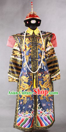 Ancient Chinese Empress Crown and Clothing Complete Set for Women