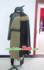 Ancient Chinese Ethnic King Costume and Hat Complete Set for Men