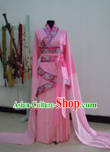 Ancient Chinese Pink Long Sleeves Dance Costumes for Women