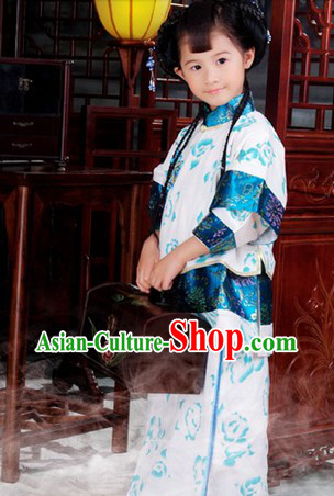 Traditional Chinese Minguo Xiuhe Style Clothes for Kids