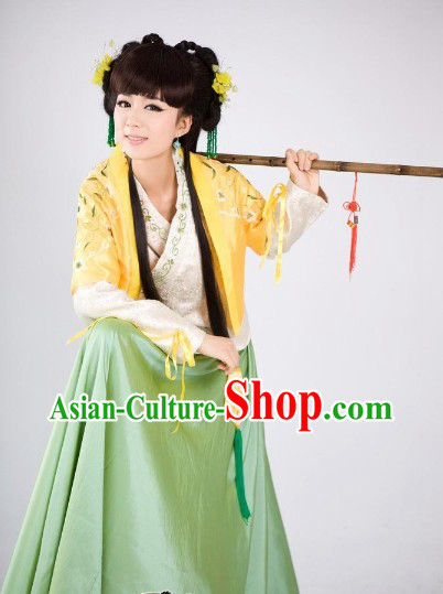 Ancient Chinese Swordswoman Female Knight Costumes Complete Set