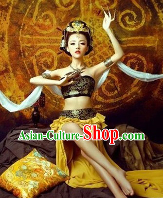 Ancient Dunhuang Dancer Costumes Cape and Accessories for Women