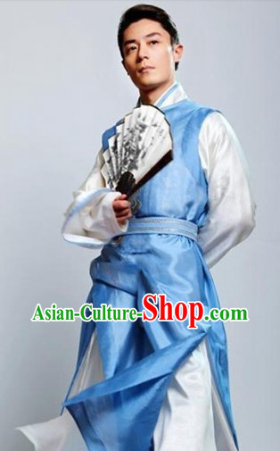 Ancient Chinese Swordsman Costumes Complete Set for Men