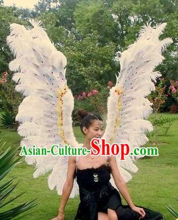 Handmade Big White Angel Wings for Stage Performance