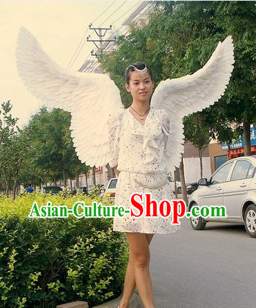 Long Feather Pure White Angel Wings Stage Performance Props