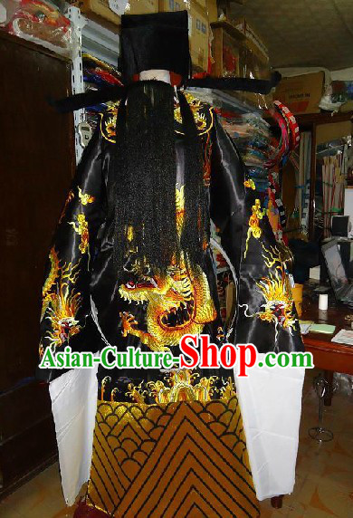 Bao Gong Ancient Chinese Judege Law Costumes and Hat