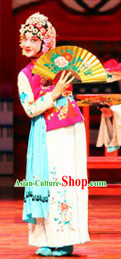 Traditional Chinese Opera Hua Dan Jacket and Skirt Costumes for Kids