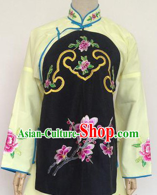 Traditional Chinese Yellow Peking Opera Jia Fan Dai Waitress Costumes