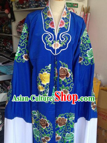 Green Embroidered Flower Opera Female Costumes