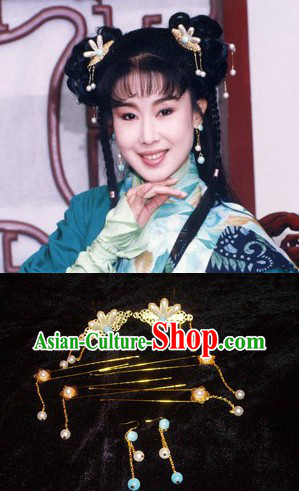 Ancient Chinese Female Hair Accessories and Earrings
