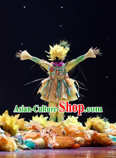 Novelty Scarecrow Dance Costumes and Headwear for Kids