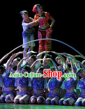 Traditional Chinese Folk Dance Costumes Complete Set