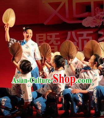 Traditional Chinese Grandmother Dance Costumes Complete Set