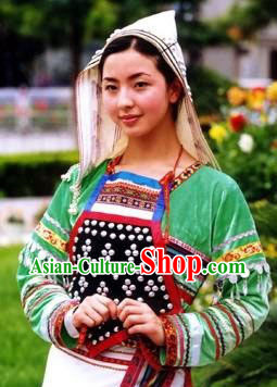 Jino Nationality Female Clothing and Hat for Women