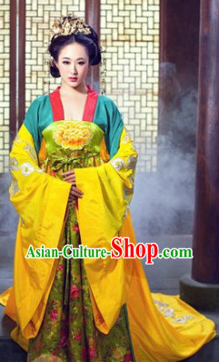 Ancient Chinese Imperial Palace Dresses and Hair Accessories Complete Set