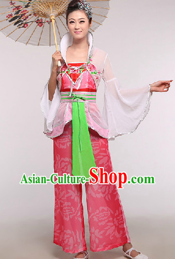 Chinese Classic Fairy Dance Costumes and Headdress