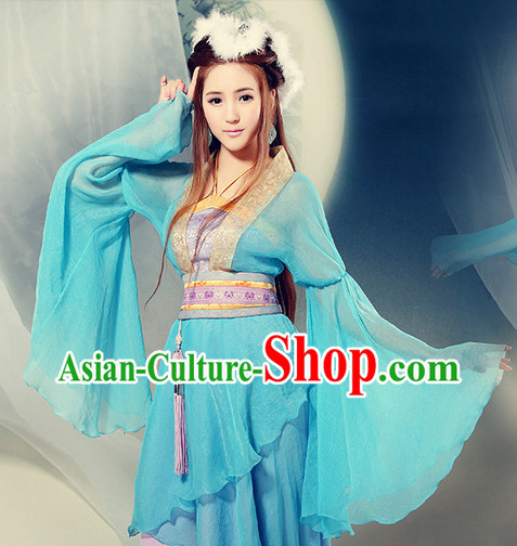 Ancient Chinese Wide Sleeves Dance Costumes