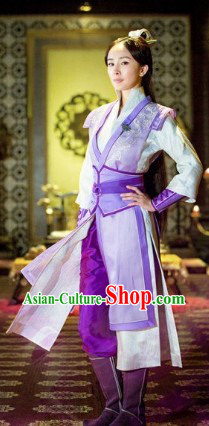 Gu Jian Feng Xueqing Swordwoman Clothing and Headdress Complete Set