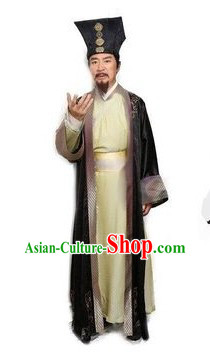 Ancient Chinese Teacher Costumes with Hat