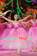 Butterfly and Flower Stage Performance Dance Costumes Complete Set