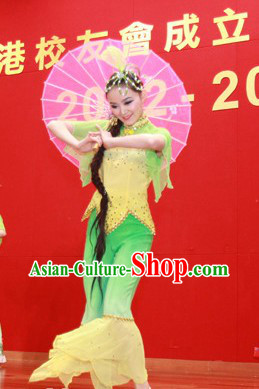 Jasmine Flower Recital Dance Costume and Headdress Complete Set