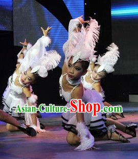 Eagle Jazz Dance Costumes and Headwear Complete Set for Kids