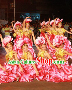 Flower Dance Costume Dancewear and Headwear Complete Set