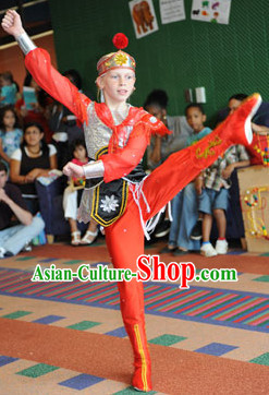 China Classical Dancing Costumes and Hat - Mulan Returns