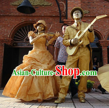 Action Art Living Sculpture Props Costumes Complete Set