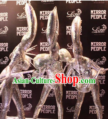 Action Arts Living Sculpture ET Allien Costumes Complete Set