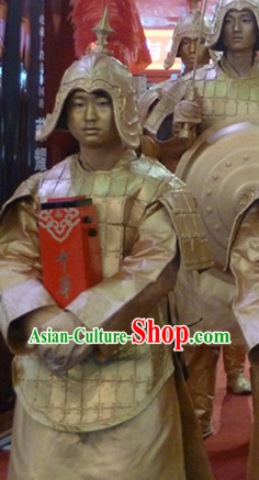 Action Art Living Sculpture Terra Cotta Props Costumes Complete Set