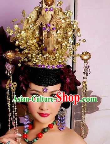 Ancient Chinese Imperial Empress Hat Headpieces
