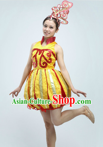High Collar Group Dance Costumes