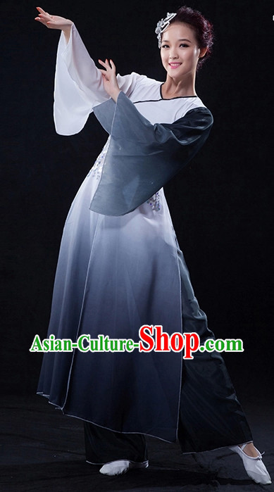 Professional Stage Performance Ink Painting Dance Costumes for Women