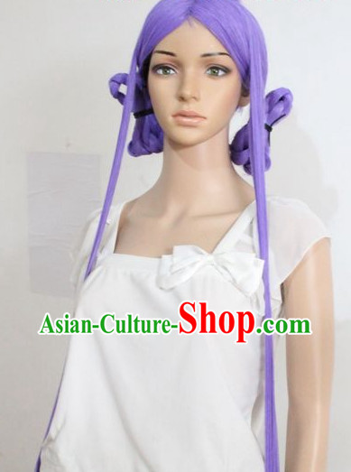 Ancient Chinese Style Cosplay Purple Long Wig for Women