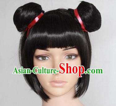 Chinese Doll Black Wig
