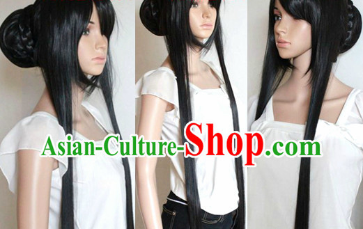 Chinese Cosplay Black Long Sexy Wig for Women