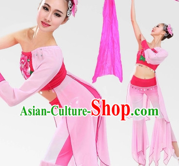 Chinese Classic Fan Dancing Costumes for Women