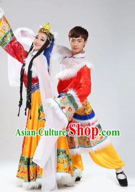 Stage Performance Tibetan Dancing Costumes for Men or Women