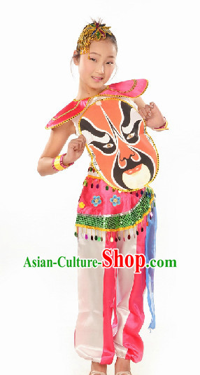 Chinese Beijing Opera Folk Dance Costume for Kids