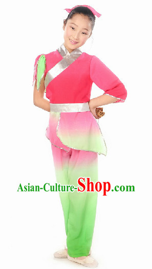 Ancient Asian Student Classical Dancing Costume