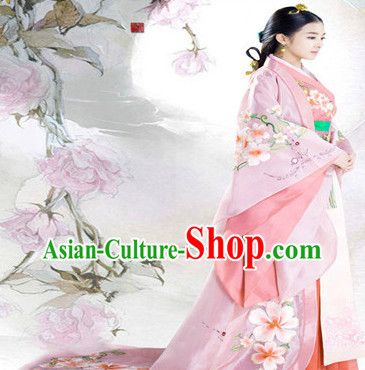 Ancient Chinese Lanling Princess Costumes and Headdress Complete Set
