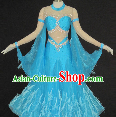 High Quality Dance Recital and Competition Feather Modern Dance Costumes