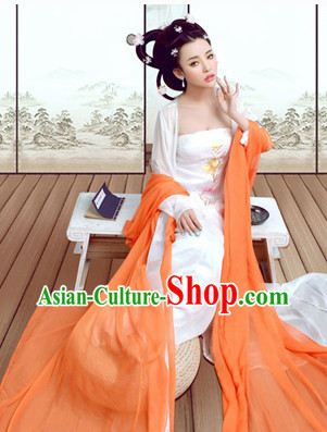 Tang Dynasty Imperial Lady Classical Dancing Costumes Complete Set