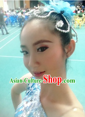 Traditional Chinese Flower Hairpin for Professional Dance Use