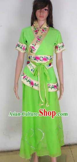 Chinese Folk Classical Dancing Costumes for Professional Stage Performance