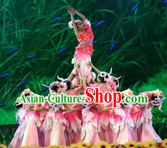 Traditional Chinese Mermaid Dancing Costumes for Kids
