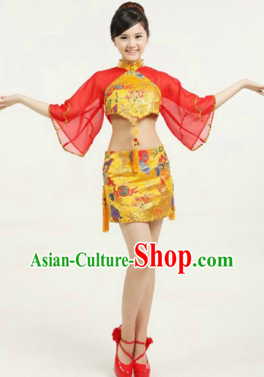 Professional Custom Make Stage Performance Chinese Knot Dancing Costumes