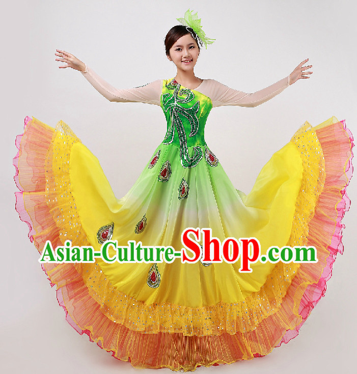 Top Custom Make Stage Performance Phoenix Dancing Costumes and Headdress