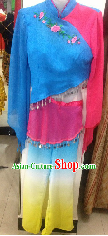 Professional Custom Make Stage Performance Yangge Dance Costumes